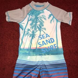 Boys swimming top & trunks